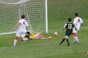 f1532a0f9 Clarkson s Henry Gomez Jr. (10) fires an open close-range shot on the St.  Lawrence University goal. However